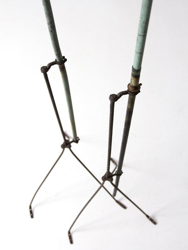 antique lightning rod pair