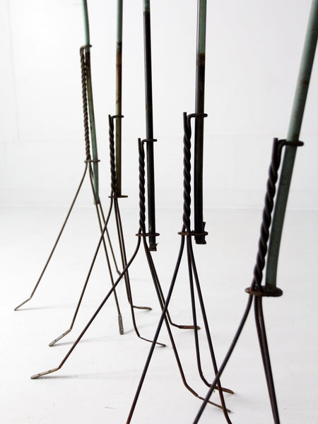 antique American lightning rod collection