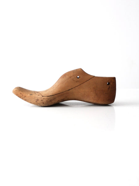 antique wooden shoe last