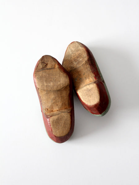 antique children's wooden clogs