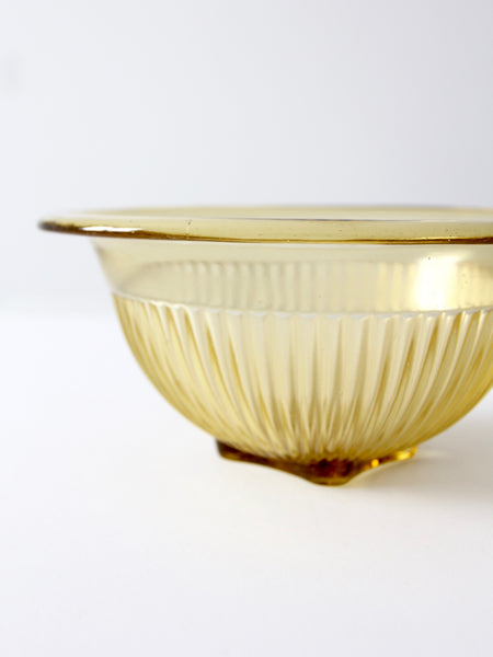 vintage Depression glass bowl by Federal