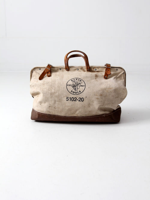 vintage Klein Tools canvas bag