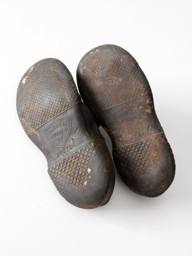 1800s rubber shoes American Rubber Company Boston