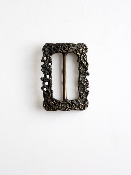 vintage center bar slide buckle