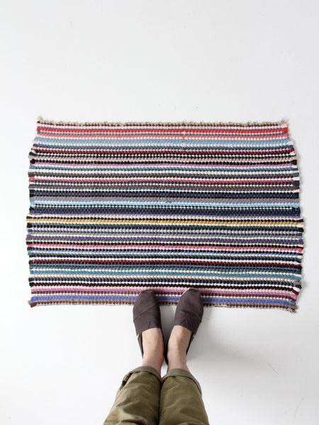 vintage throw rag rug