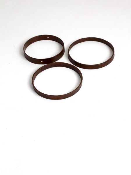 antique iron ring collection