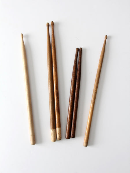 collection vintage drumsticks