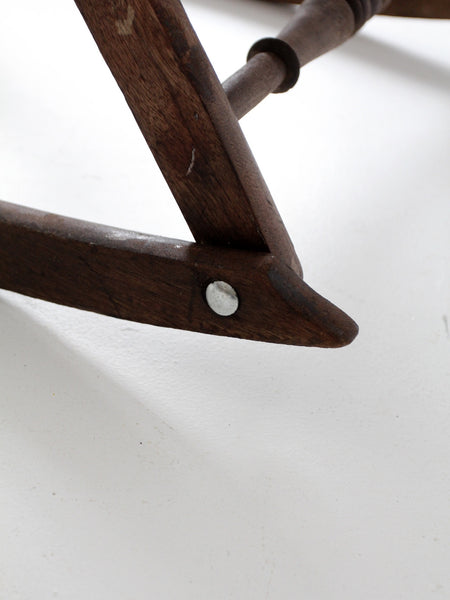 antique rocking chair leg
