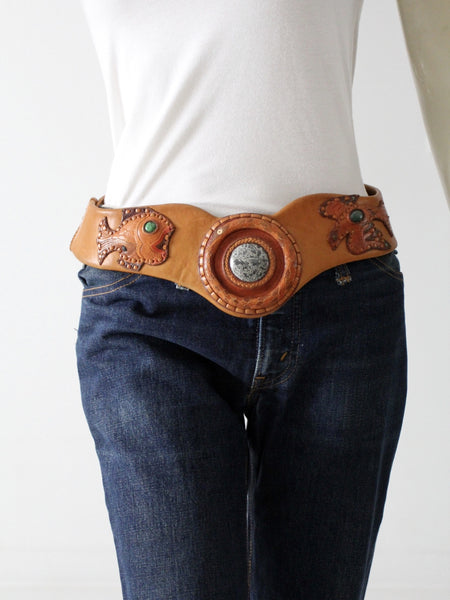 vintage hippie leather belt