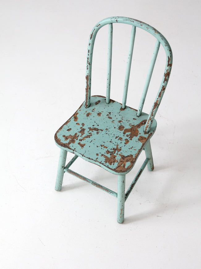 vintage painted wood children's chair