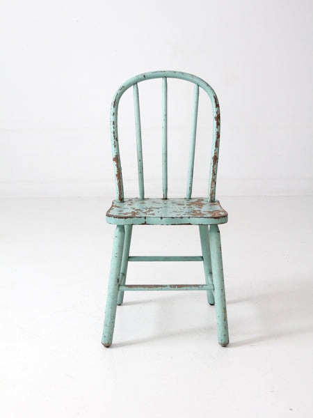 vintage wooden children's chair