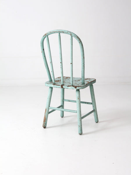 vintage spindle back children's chair