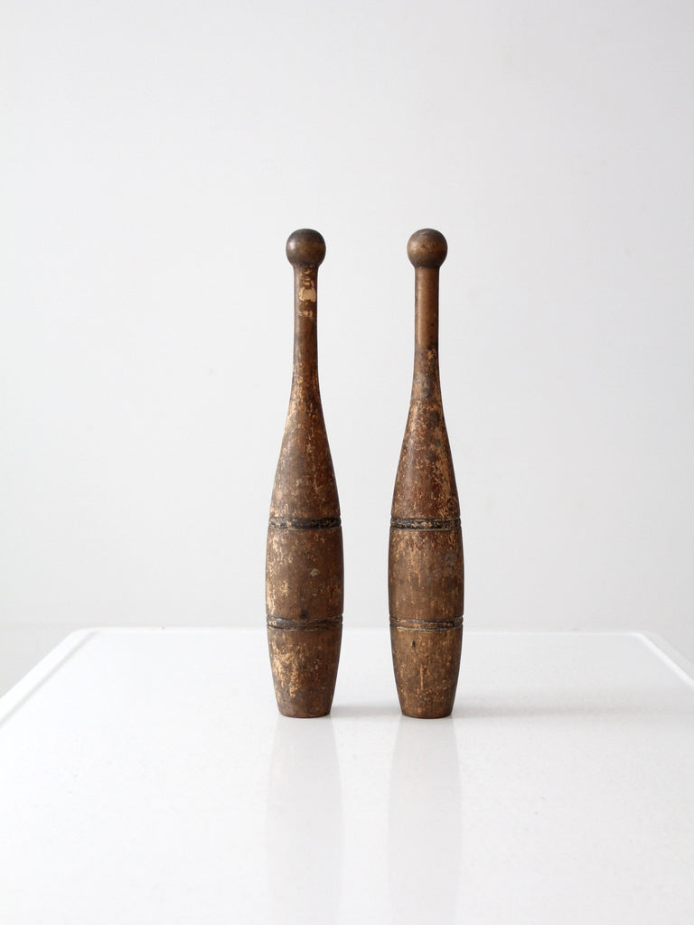 antique Indian clubs