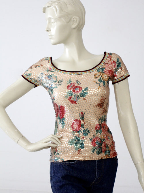 vintage Jean Paul Gaultier sequin blouse