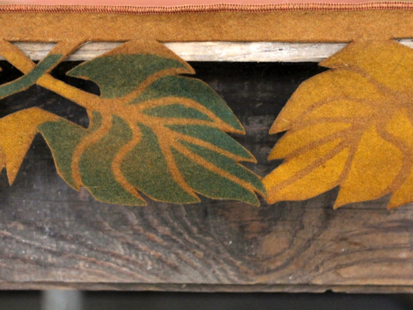 vintage felt table runner with autumn leaf design