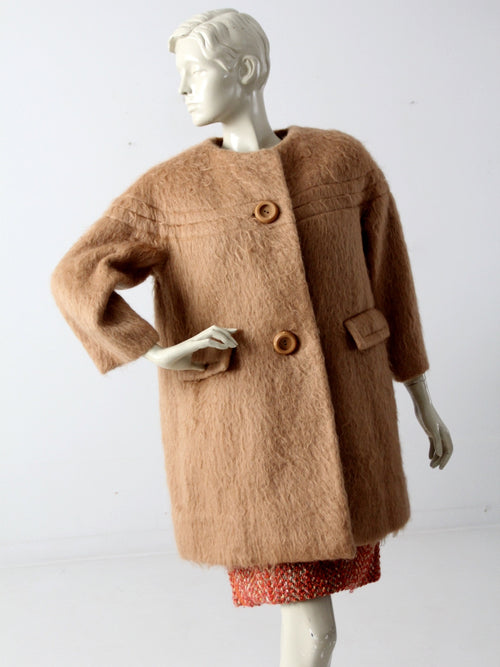 vintage 60s mohair swing coat