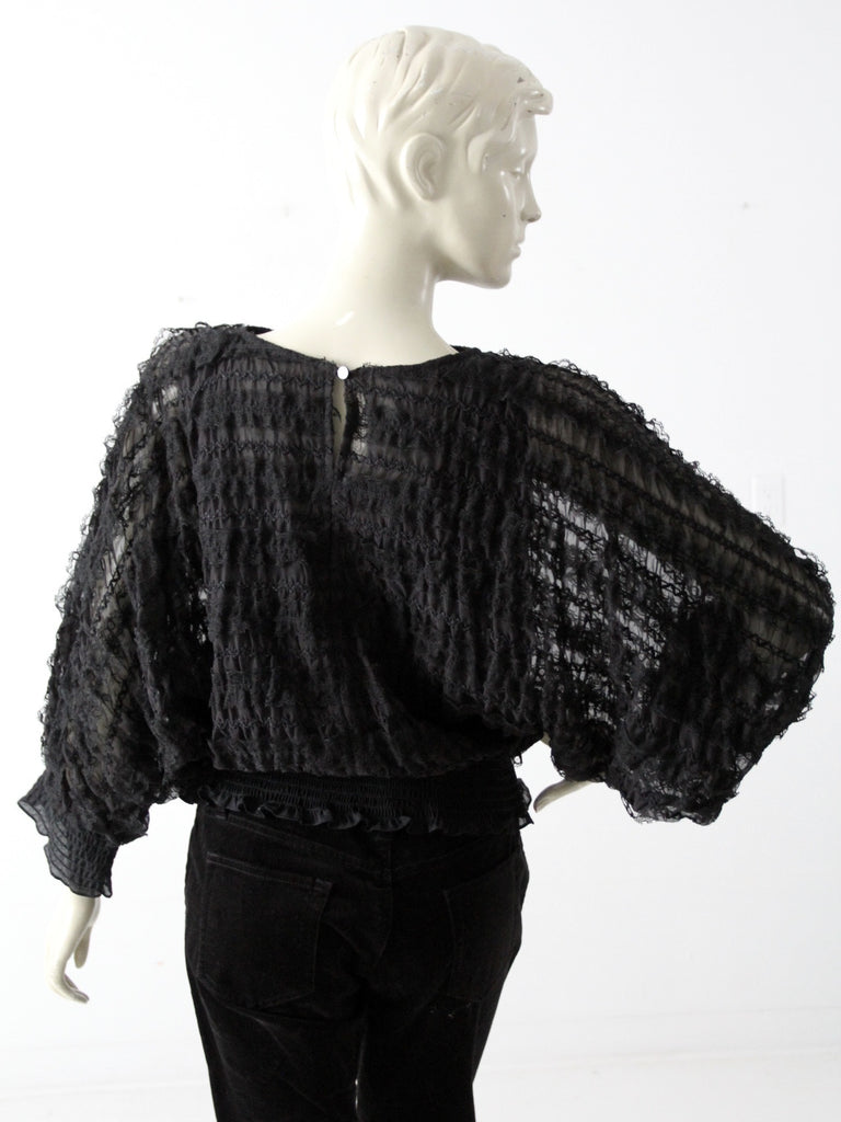 vintage Andree Gaye ruffle blouse