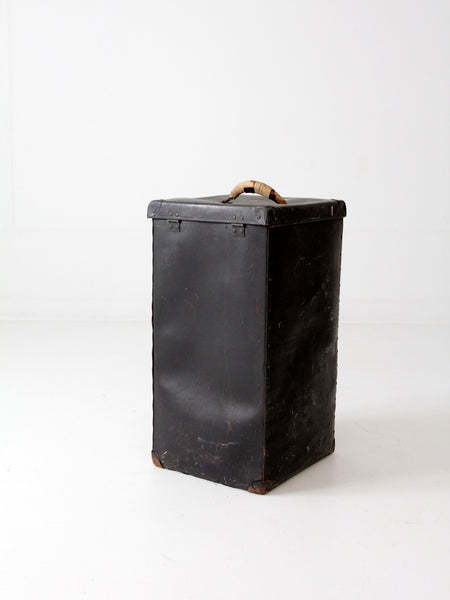 vintage vulcanized luggage bin