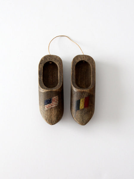 antique wooden clogs ornament