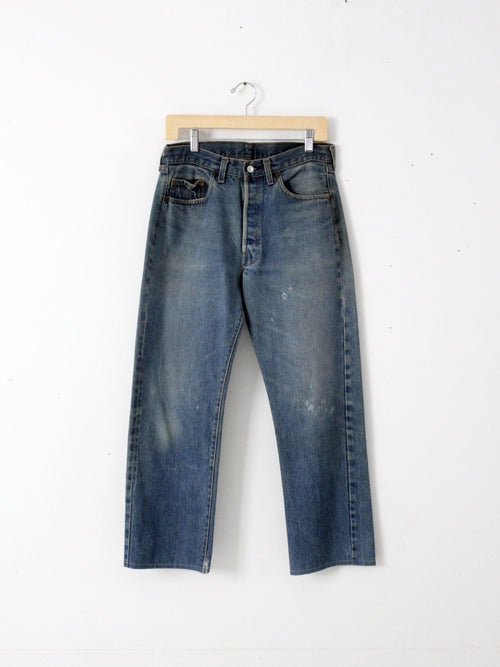 vintage Levi's red line 501 denim jeans, 32 x 28