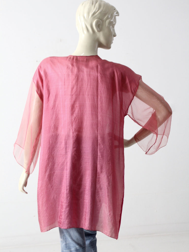 vintage 70s Joel & Lana silk beach cover up
