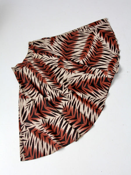 vintage jungle print circle skirt