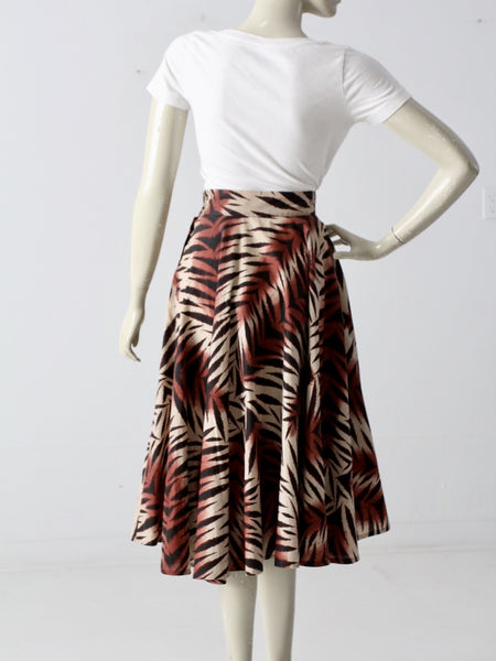 1950s jungle print circle skirt