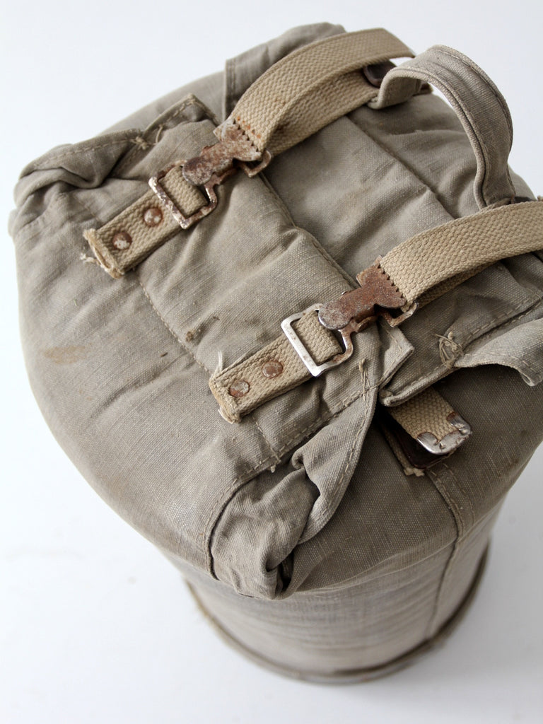 vintage army camp bag