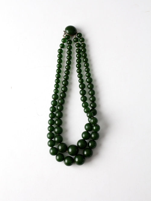 vintage 50s two strand necklace