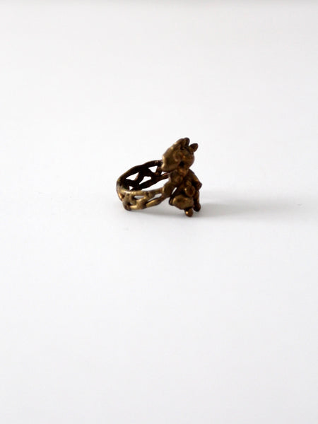 vintage bronze brass ring