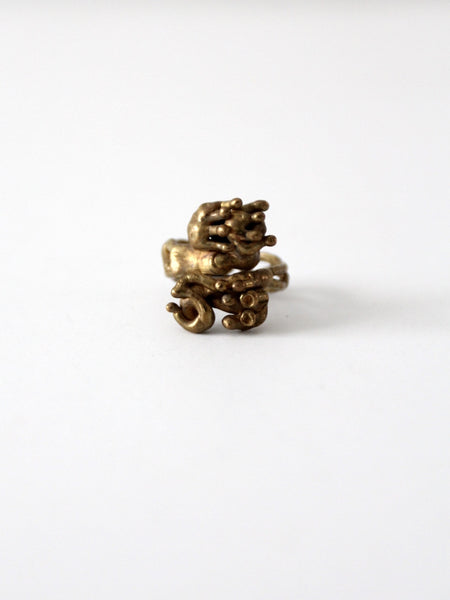 brutalist statement ring circa 1970