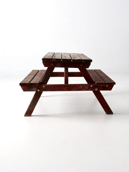 vintage children's picnic table