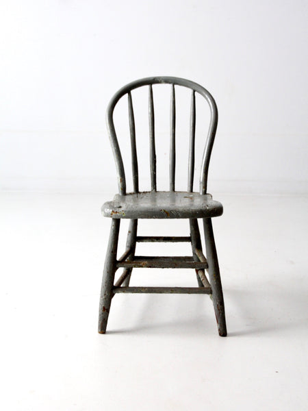 antique primitive spindle back chair