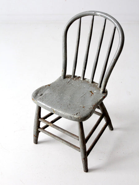 antique rustic spindle back chair