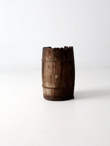 rustic country decor barrel