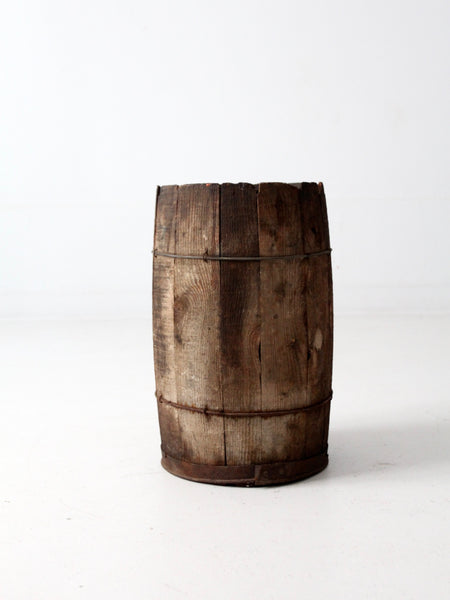 antique wooden keg barrel