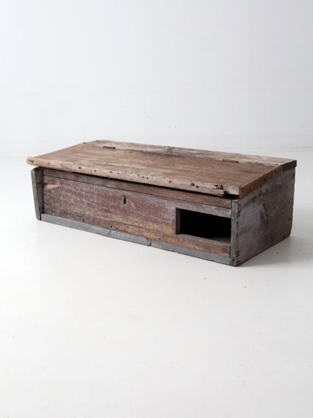vintage small teak planter box