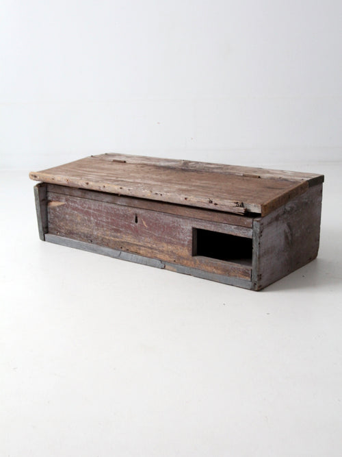 primitive tabletop cabinet