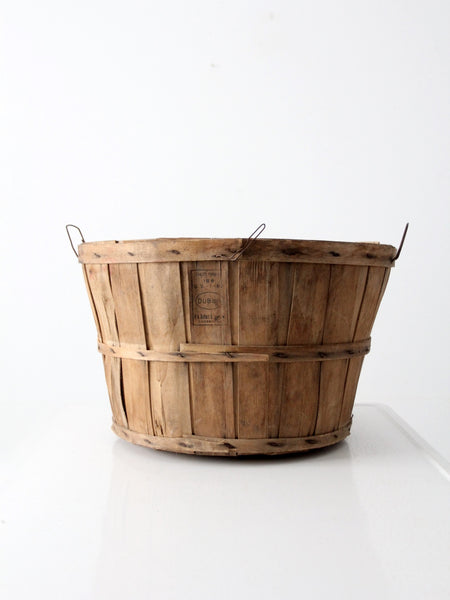 vintage triangle basket