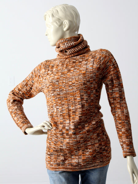 vintage 70s knit turtleneck