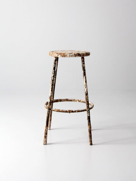 vintage painter's workshop stool