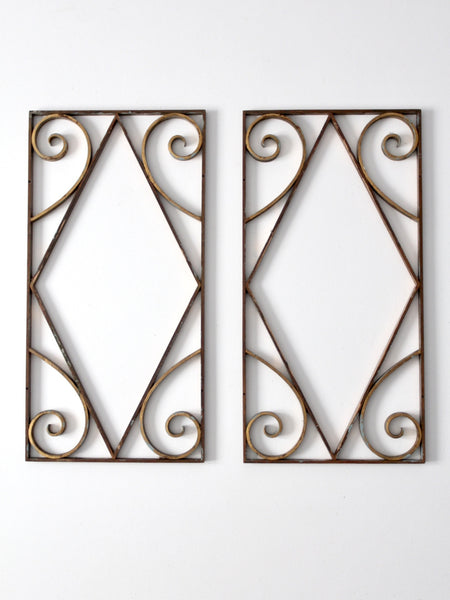antique brass architectural frames