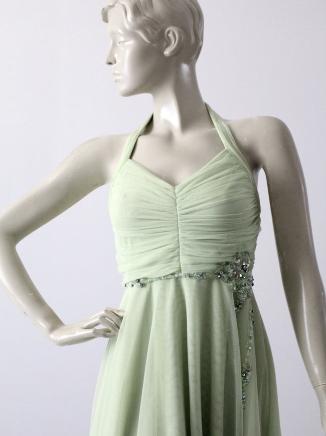 vintage halter party dress