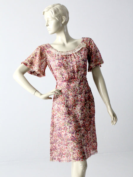 vintage 50s pink cocktail dress