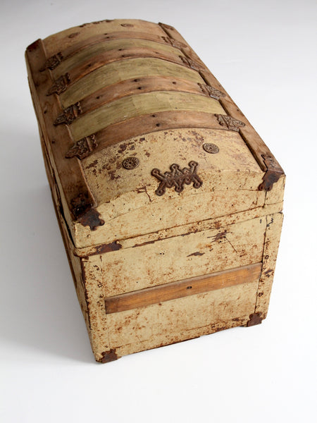 19th century dome top trunk