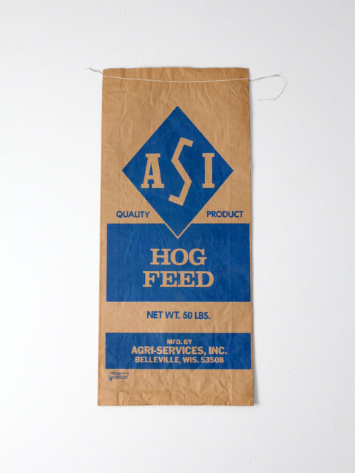 vintage ASI hog feed bag
