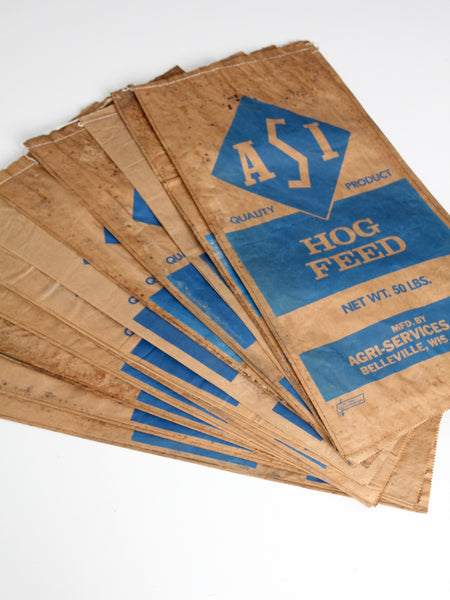 vintage ASI distressed hog feed bag
