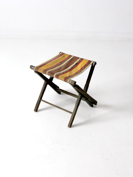 vintage folding camp chair