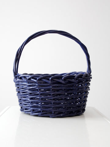 Victorian wicker fishing basket