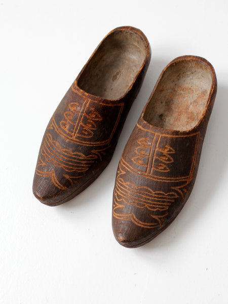 antique Dutch wooden clogs